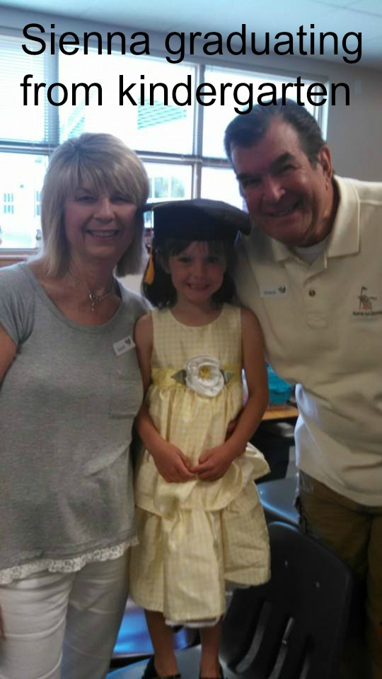 Sienna's graduation day from Kindergarten