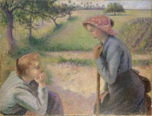 Camille_Pissarro_Two_Young_Peasant_Women