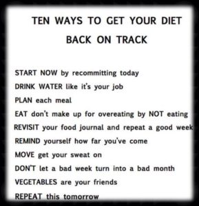 Back on diet tips