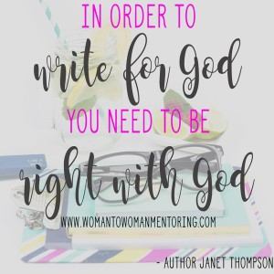 Write for God with website