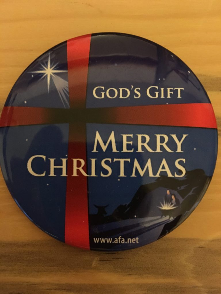 "God's gift at Christmas is Jesus Christ so why is it so controversial to say ""Merry Christmas""?"