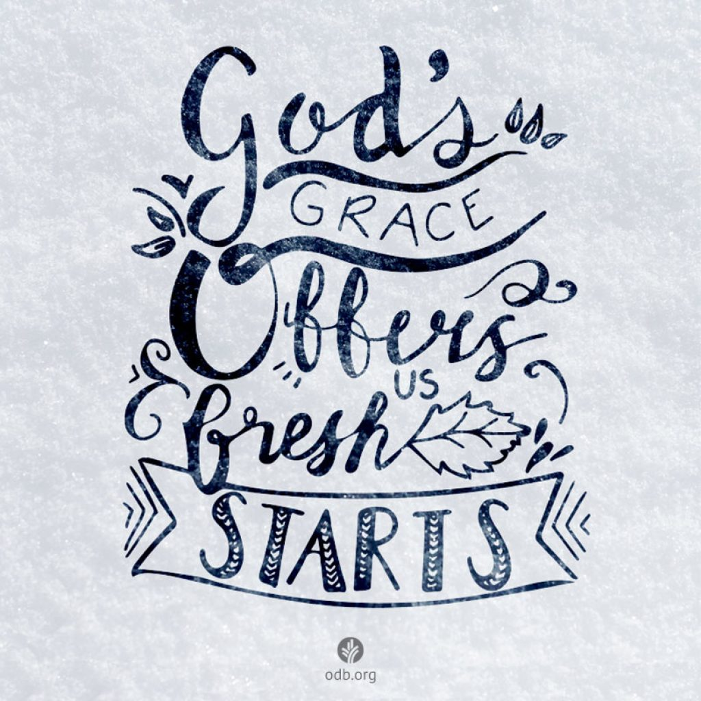 God's grace is how I find 5 ways to a fresh start in the New Year